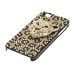 Skinnydip - Gold diamante cheetah iPhone 5 case and screen protector