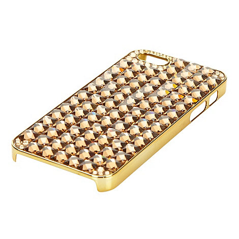 Skinnydip - Gold geometric gem iPhone 5 case and screen protector