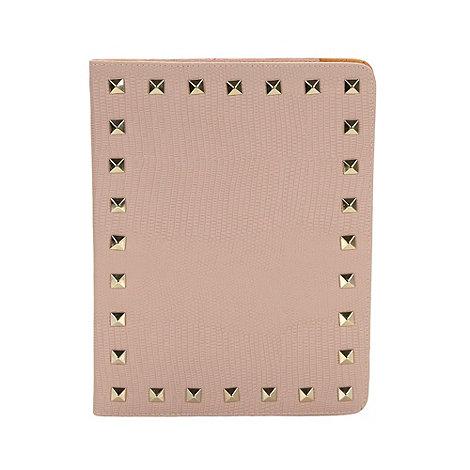 Skinnydip - Light pink studded iPad flip case