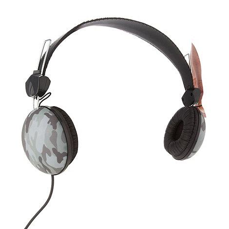 Skinnydip - Green camouflage base headphones