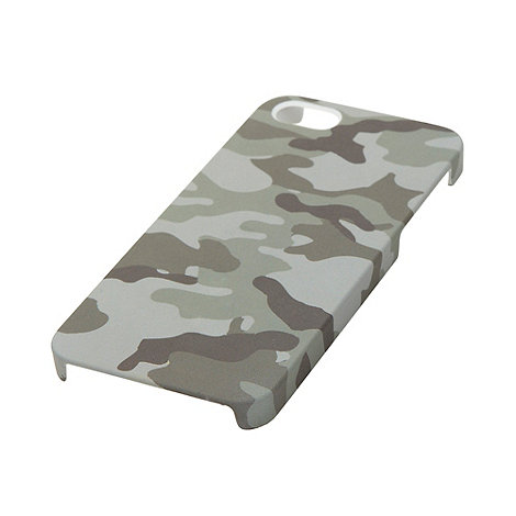 Skinnydip - Green camouflage printed iPhone 5 case and screen protector