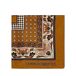 Hammond & Co. by Patrick Grant - Gold printed silk pocket square