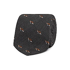 Hammond & Co. by Patrick Grant - Grey fox print tie