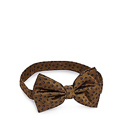 Hammond & Co. by Patrick Grant - Gold textured patterned silk bow tie