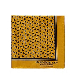 Hammond & Co. by Patrick Grant - Dark yellow printed pocket square