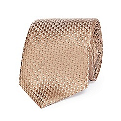 Hammond & Co. by Patrick Grant - Gold textured silk tie