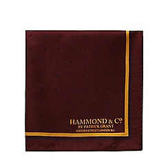 Hammond & Co. by Patrick Grant - Dark red silk pocket square