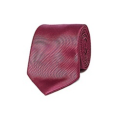 Jeff Banks - Dark pink silk striped tie