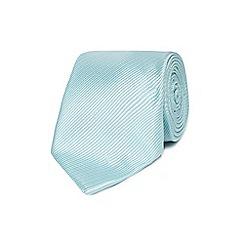 Jeff Banks - Light green silk striped tie