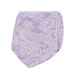 Jeff Banks - Lilac paisley silk tie