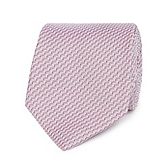 Jeff Banks - Pink wave-stripe silk tie
