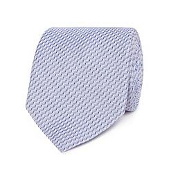 Jeff Banks - Blue wave-stripe silk tie