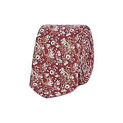 Red Herring - Red floral print skinny tie