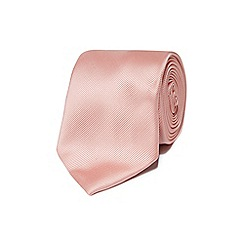 Black Tie - Light pink textured tie