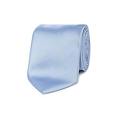 Black Tie - Light blue textured tie
