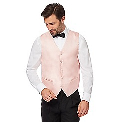 Black Tie - Big and tall light pink textured waistcoat
