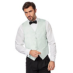 Black Tie - Big and tall light green textured waistcoat