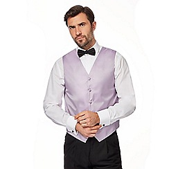 Black Tie - Big and tall lilac textured waistcoat