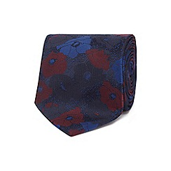 The Collection - Blue tonic floral print tie