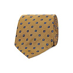 The Collection - Gold geometric clover tie with a tie bar