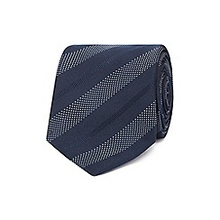 The Collection - Navy diagonal stripe tie