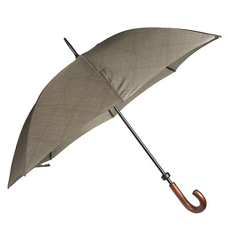 Fulton - Khaki grid printed umbrella