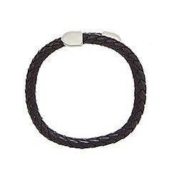 Duncan Walton - Black 'Birch' leather bracelet