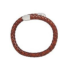 Duncan Walton - Brown 'Birch' leather bracelet