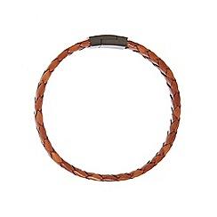 Duncan Walton - Brown 'Baker' leather bracelet