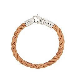 Duncan Walton - Tan leather 'Scott' twist bracelet
