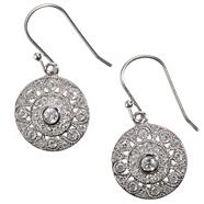 Sterling silver 'palazzo' disc earrings