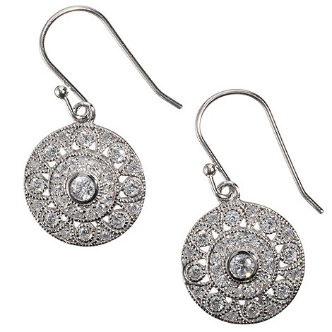 Van Peterson 925 - Sterling silver +Palazzo+ disc earrings