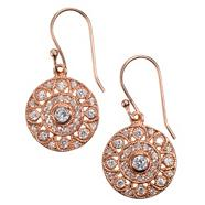 Rose 'Palazzo' disc earrings