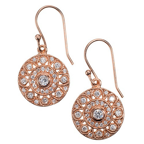 Van Peterson 925 - Rose gold vermeil +Palazzo+ disc earrings