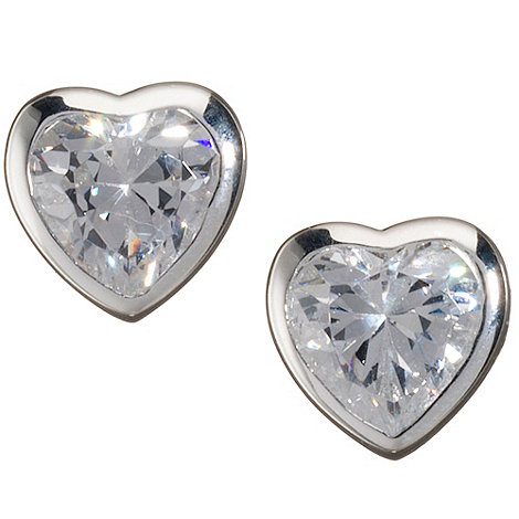 Van Peterson 925 - Sterling silver +Heartfelt+ stud earrings