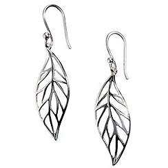 Van Peterson 925 - Sterling silver forest leaf earrings