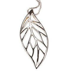 Van Peterson 925 - Sterling silver forest leaf pendant.