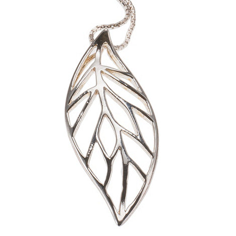 Van Peterson 925 - Sterling silver forest leaf pendant