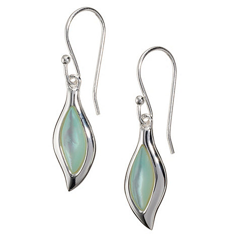 Van Peterson 925 - Sterling silver pearl leaf earrings