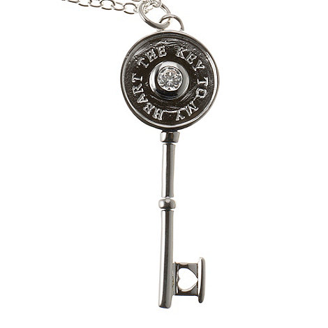 Van Peterson 925 - Sterling silver +The Key to my Heart+ pendant necklace