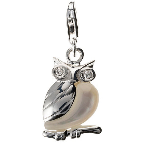Van Peterson 925 - Sterling silver +mr. owl+ charm