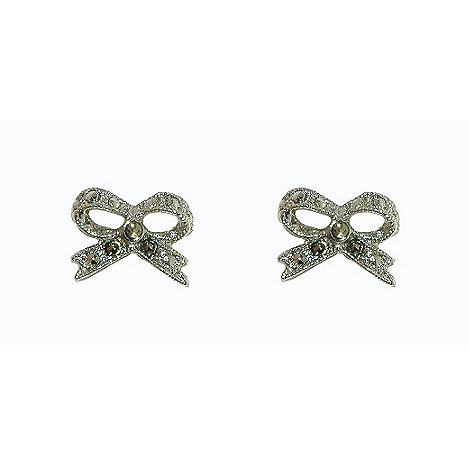 1928 - Marcasite bow earrings