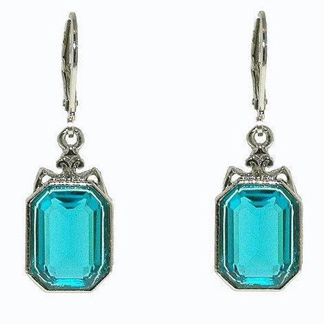 1928 - Aqua drop earrings
