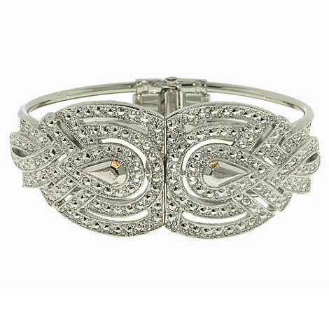 1928 - Silver teardrop bangle