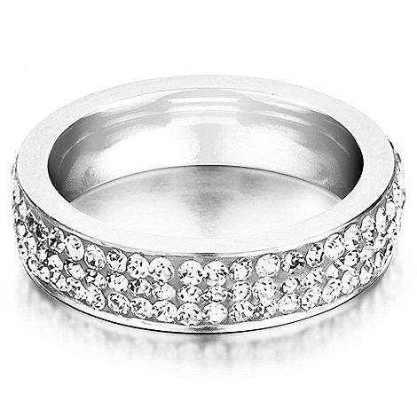 Shimla - Clear crystal ring - size n