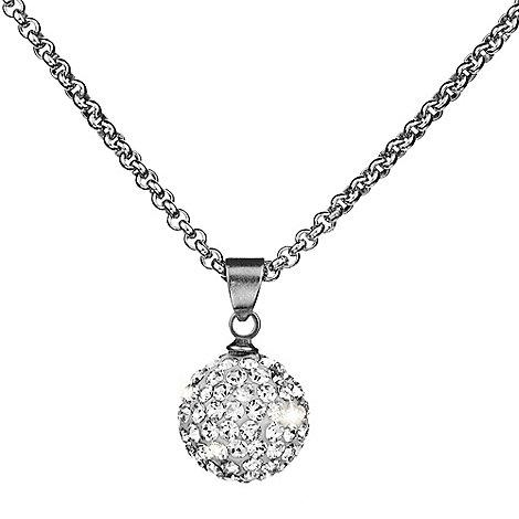 Shimla - Clear crystal fireball pendant