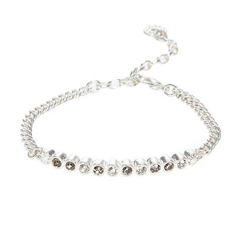 Pilgrim - Silver diamante circle bracelet