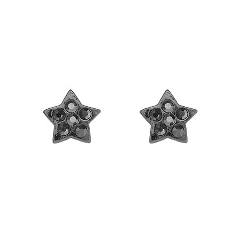 Pilgrim - Black star shaped stud earrings