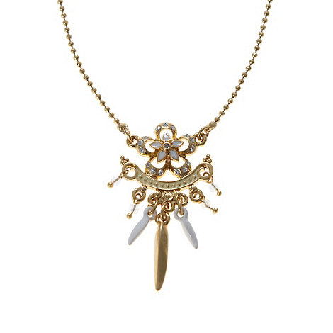 Pilgrim - Gold cut out flower pendant