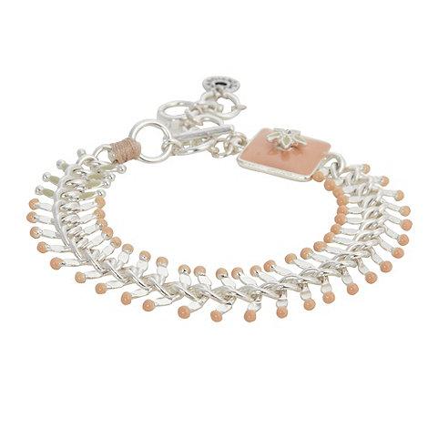 Pilgrim - Silver chevron link bracelet